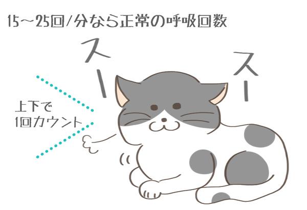 猫の呼吸のカウントをあらわすイラスト