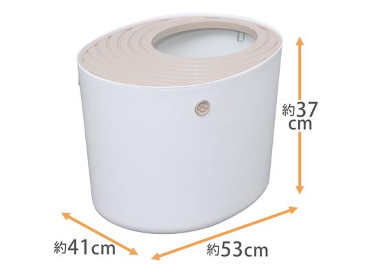 アイリスオーヤマ 上から猫トイレ商品イメージ