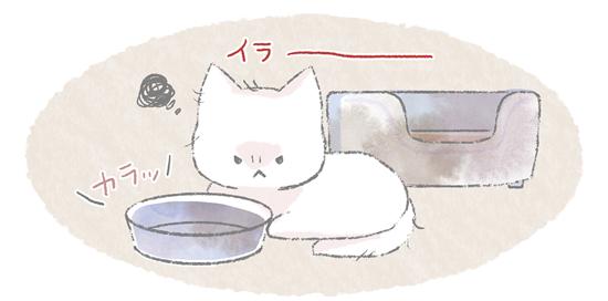 不満をため込んでイライラしている猫のイラスト