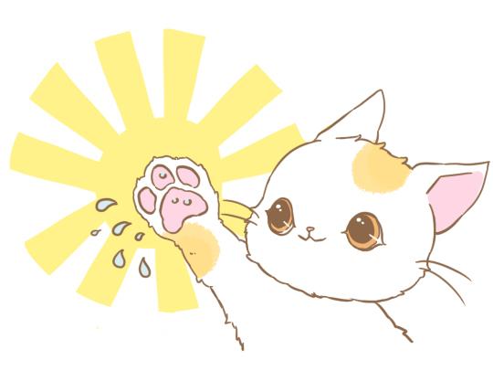 猫の毛づくろいのイラスト3