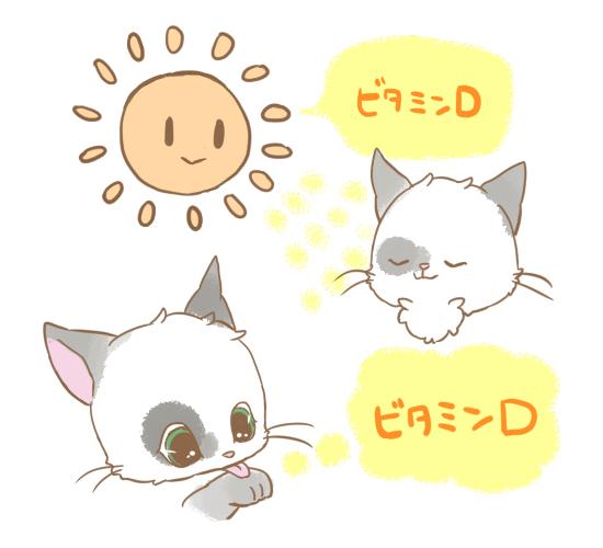 猫の毛づくろいのイラスト4