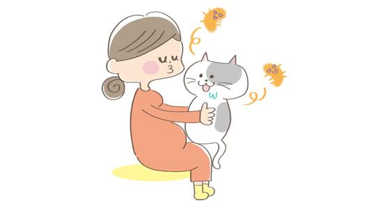 猫とスキンシップしないことのイラスト
