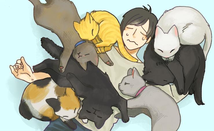 背中 に 乗っ くる 猫 て