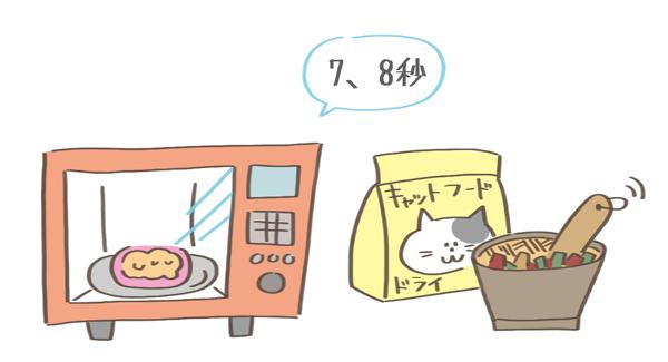 フードの食べやすくする工夫イラスト