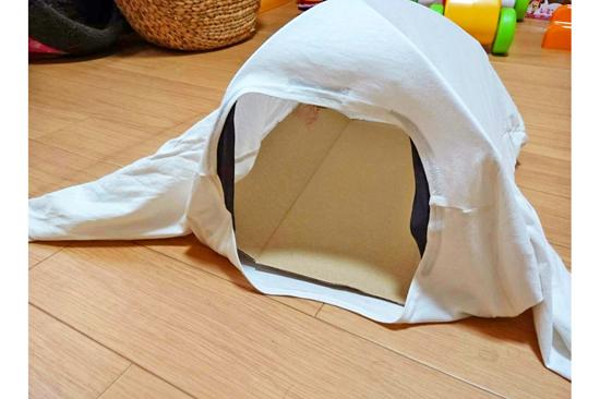 Tシャツ猫用テントの作り方4
