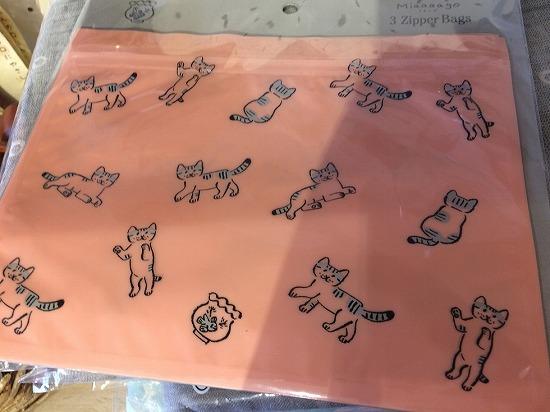 猫のジップバッグ