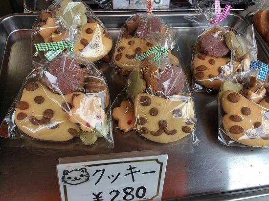 店頭のにゃんこクッキー
