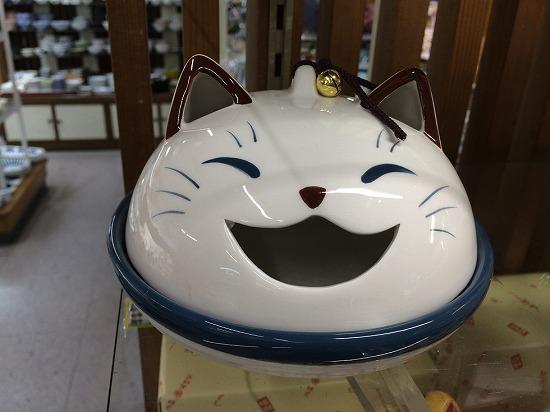 猫の大笑い蚊取り線香入れ