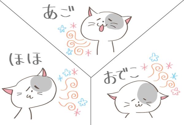 フェイシャル・フェロモンが出ている猫のイラスト