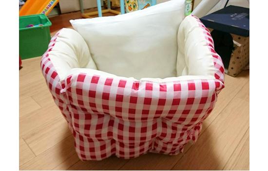 猫用ハウス型ベッドの作り方1