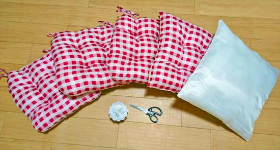 猫用ハウス型ベッドの材料
