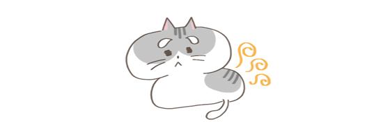 猫の匂いの原因、猫の老化のイラスト