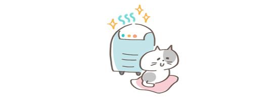 猫の匂い対処法、空気清浄機のイラスト