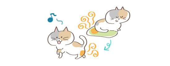 猫の匂い対処法、猫の周囲のにおいに気をつけるイラスト