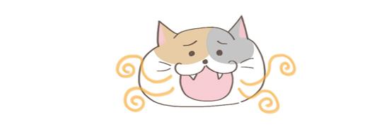 猫の匂いの原因、歯周病のイラスト