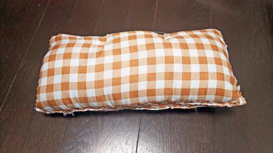 座布団の手作り猫ベッドの作り方2