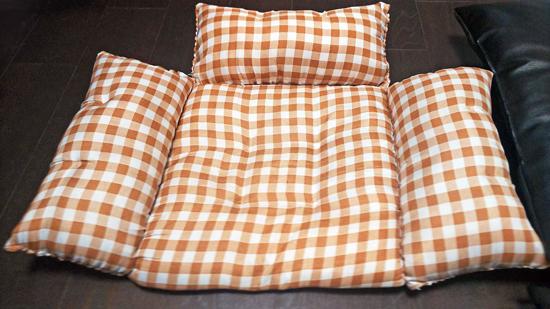 座布団の手作り猫ベッドの作り方3