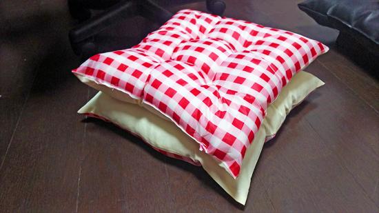 座布団の手作り猫ベッドの作り方7