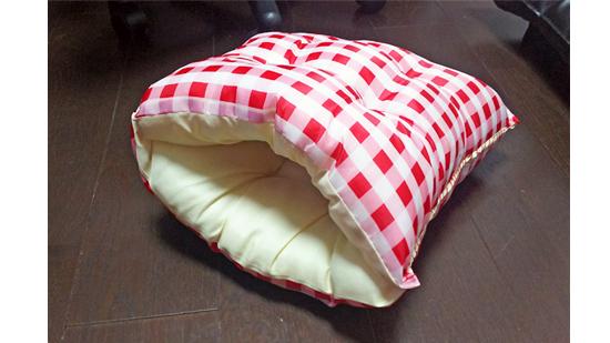 座布団の手作り猫ベッドの作り方8