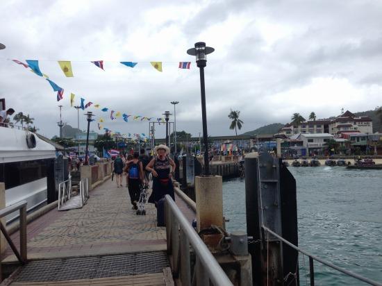 ピピ島の船着き場の写真