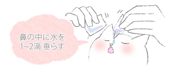 猫の鼻づまりのお手入れの方法のイラスト4