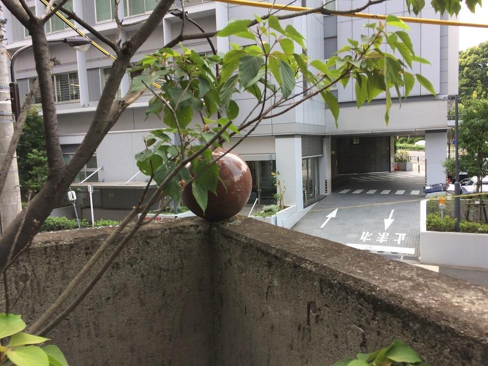 美喜井稲荷の境内隅の玉の写真