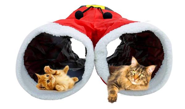 猫のクリスマスプレゼントのキャットトンネルズボンの商品画像