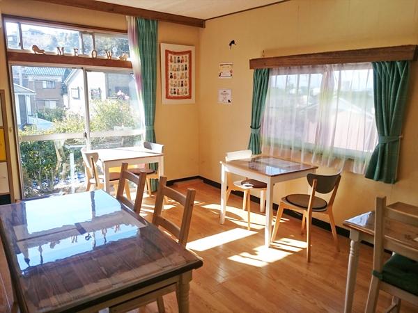 猫カフェめおまるけのカフェスペースの写真2
