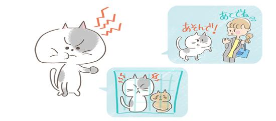 猫の不満や不安イラスト